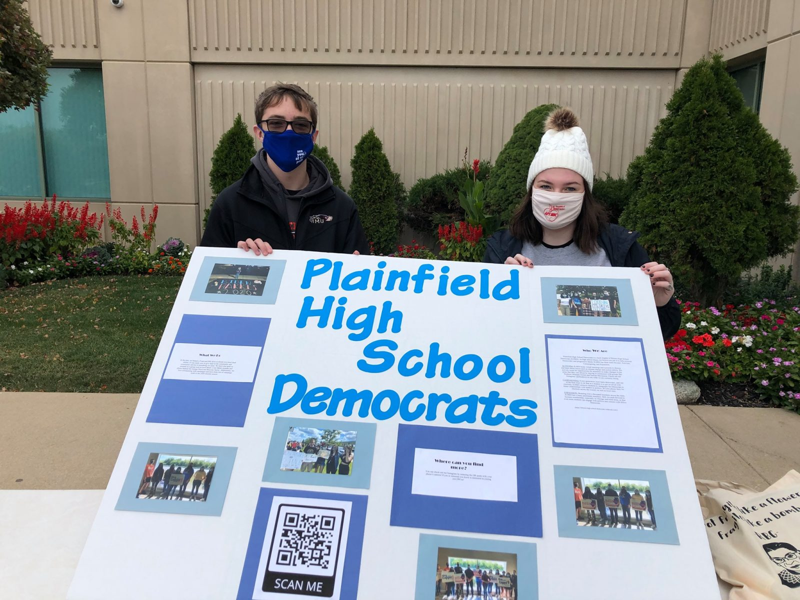 Plainfield High School Dems attend WCD 2020 GOTV Fair